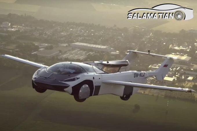 اولین پرواز بینشهری خودرو پرنده تاریخساز شد